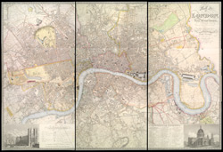 Map of London, from actual survey, comprehending the various improvements to 1851